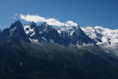 View Mont-Blanc massive Royalty Free Stock Photos