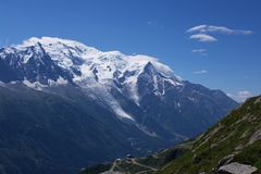View on Mont-Blanc massive Stock Photos