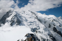 The view of Mont Blanc massive Royalty Free Stock Photos