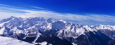 View of Mont Blanc from Verbier Royalty Free Stock Photography