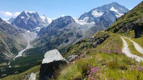 Mont Collon - Arolla, Wallis, Switzerland. View of Mont Collon and Pigne d& x27;Arolla royalty free stock photo