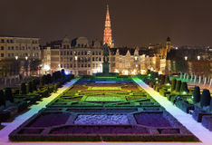 View from Mont des Arts in Brussels Stock Image