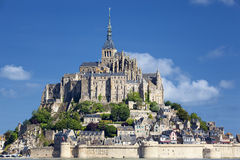 View of Mont-Saint-Michel Stock Photography
