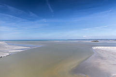 View from the Mont Saint-Michel. France to the English Channel Royalty Free Stock Photos