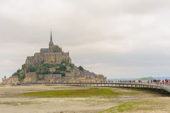 View of Mont saint Michel Stock Photos