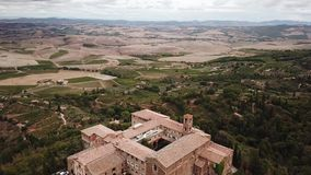 View of Montalcin City Brunello Italy. View of Montalcino the tuscany City Brunello Italy stock video