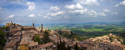View of Montalcino Stock Photos
