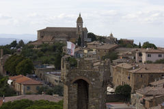 View of Montalcino city from its Castle Royalty Free Stock Image