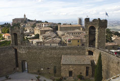 View of Montalcino city from its Castle, Royalty Free Stock Images