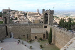 View of Montalcino city from its Castle, Stock Images