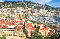 Aerial view of Monte Carlo stock photos