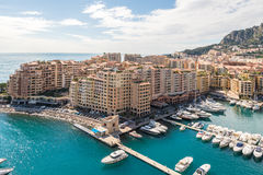 View of Monte Carlo harbour in Monaco Royalty Free Stock Photography
