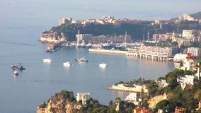 View of Monte Carlo, Monaco stock footage