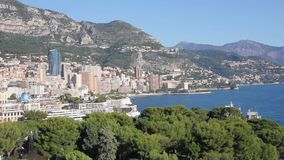 View of Monte Carlo, Monaco stock video footage