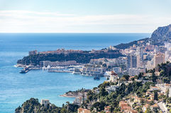 View of Monte Carlo and Monaco Ville Royalty Free Stock Photos
