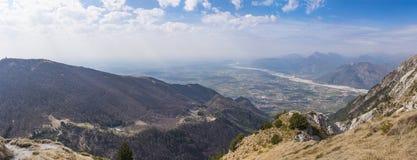 View from Monte Chiampon to Friuli-Venezia Giulia in Italy Stock Photos