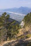 View from Monte Chiampon to Friuli-Venezia Giulia in Italy Stock Images