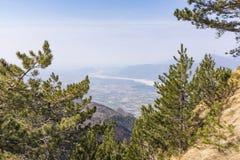 View from Monte Chiampon to Friuli-Venezia Giulia in Italy Stock Photo