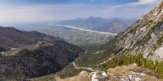 View from Monte Chiampon to Friuli-Venezia Giulia in Italy Royalty Free Stock Photos