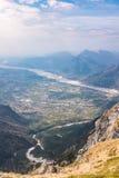 View from Monte Chiampon to Friuli-Venezia Giulia in Italy Royalty Free Stock Photo