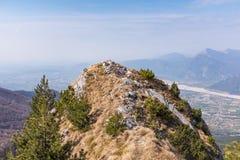 View from Monte Chiampon to Friuli-Venezia Giulia in Italy Royalty Free Stock Image