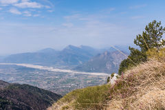 View from Monte Chiampon to Friuli-Venezia Giulia in Italy Stock Image