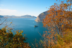 View of Monte Isola in Italy Stock Images