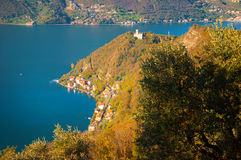 View of Monte Isola in Italy Stock Photography