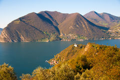 View of Monte Isola in Italy Royalty Free Stock Photography