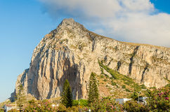 View of Monte Monaco from San Vito Lo Capo, Italy Stock Photos