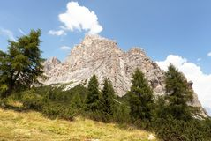 View of Monte Pelmo, Italien European Alps Royalty Free Stock Photography