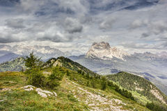 View from Monte Rite, Dolomites, Alps, Italy Stock Photography