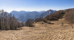 View from Monte San Simeone to Julian Alps in Italy Stock Photo