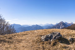 View from Monte San Simeone to Julian Alps in Italy Royalty Free Stock Image