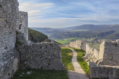 View of the Monte Sant`Angelo Castle.It is an architecture in the Apulian city of Monte Sant`Angelo, Italy Stock Image