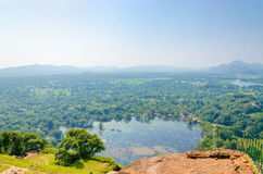 View from Monte Sigiriya, Lion Rock Fortress Royalty Free Stock Photos
