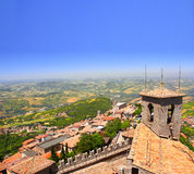 View from Monte Titano, San Marino Royalty Free Stock Photography