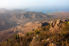 View from the Monte Verde mountain near Mindelo Royalty Free Stock Images
