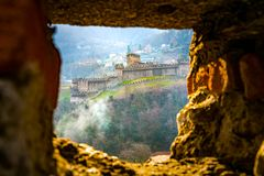View of Montebello Castle. One of The Castles of Bellinzona in Switzerland UNESCO World Heritage Site Stock Images