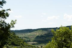 View of Monteleone Sabino. In the Lazio Royalty Free Stock Images