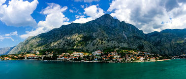 View of montenegro from the bay of kotor Royalty Free Stock Photography