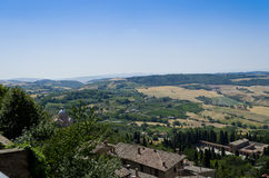 View from Montepulciano - Italy. View over Tuscan countryside from Montepulciano in Italy Stock Photo