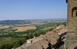 View from Montepulciano - Italy. View over Tuscan countryside from Montepulciano in Italy Royalty Free Stock Images