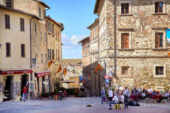View of Montepulciano Piazza Grande Royalty Free Stock Image
