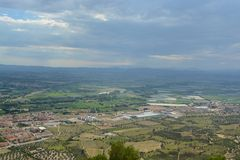 View from Montgri castle. On a hot summers day Stock Photography