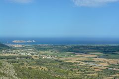 View from Montgri castle. On a hot summers day Stock Photo