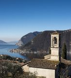 View of the Lake Iseo royalty free stock photo