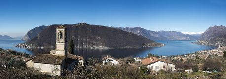 View of the Lake Iseo royalty free stock photos