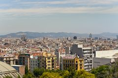View from Montjuic Stock Photos