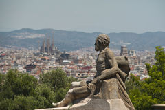 View from Montjuic Royalty Free Stock Photography